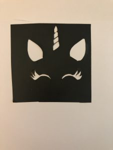 Prior To Cutting My Cardstock I Created A Design On Silhouette Cameo For The Unicorn Face